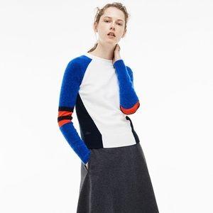 ✨LACOSTE✨Crew Neck Jersey Colorblock Sweater